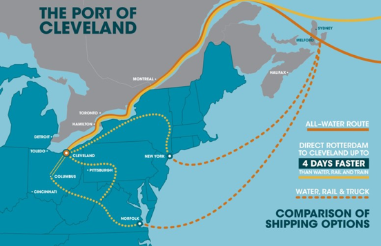 port of cleveland map